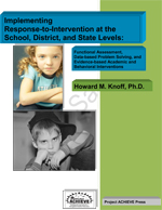 Implementing RTI at School, District and State Levels E-Book